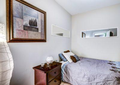Autre chambre du duplex au 2188 rue Denonville