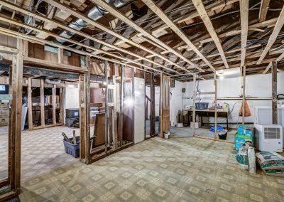 Sous-sol du duplex au 2188 rue Denonville